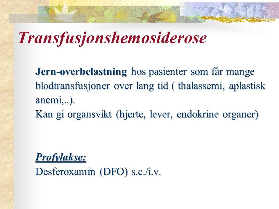 Transfusjonshemosiderose
