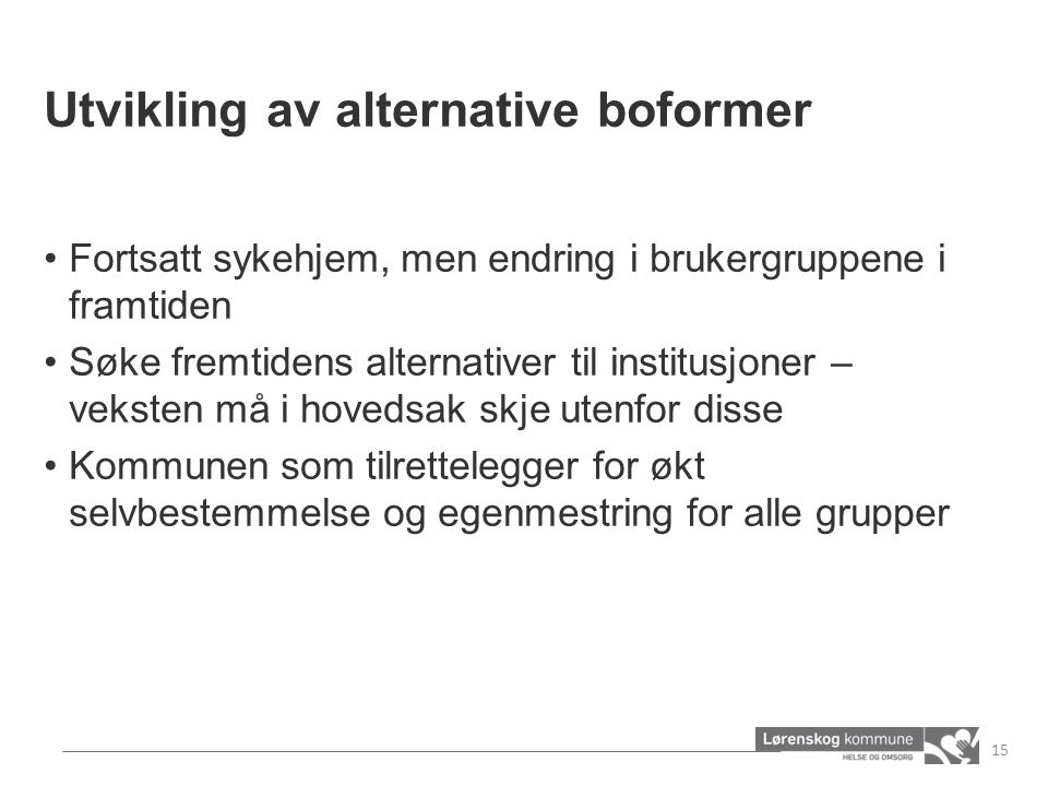 Utvikling av alternative boformer
