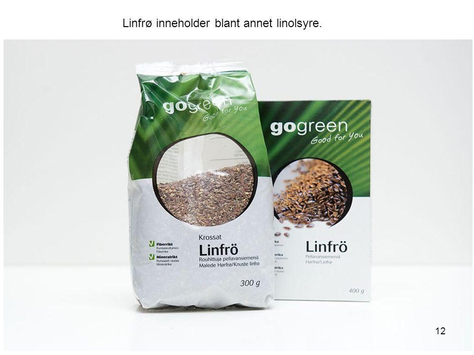 Linfrø inneholder blant annet linolsyre.