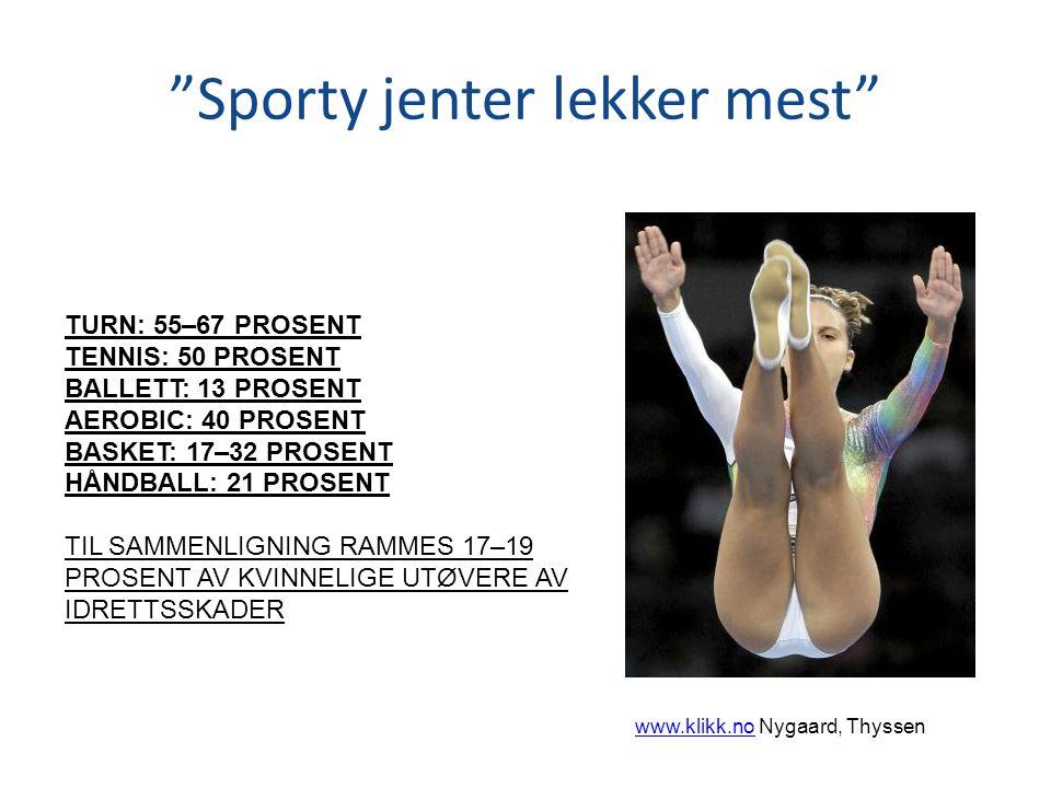Sporty jenter lekker mest