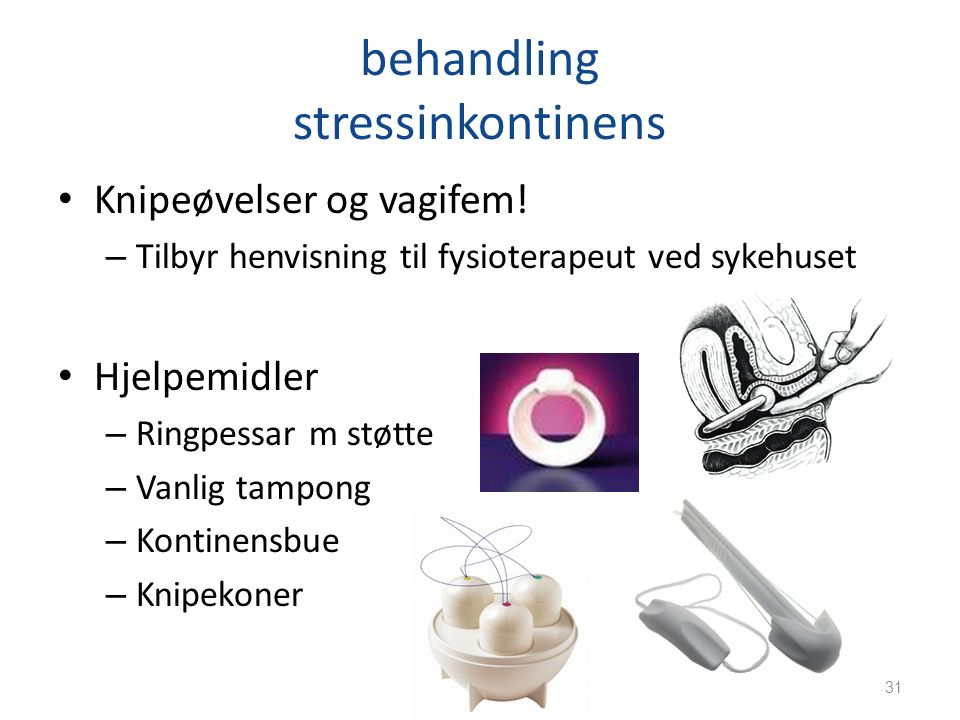 behandling stressinkontinens