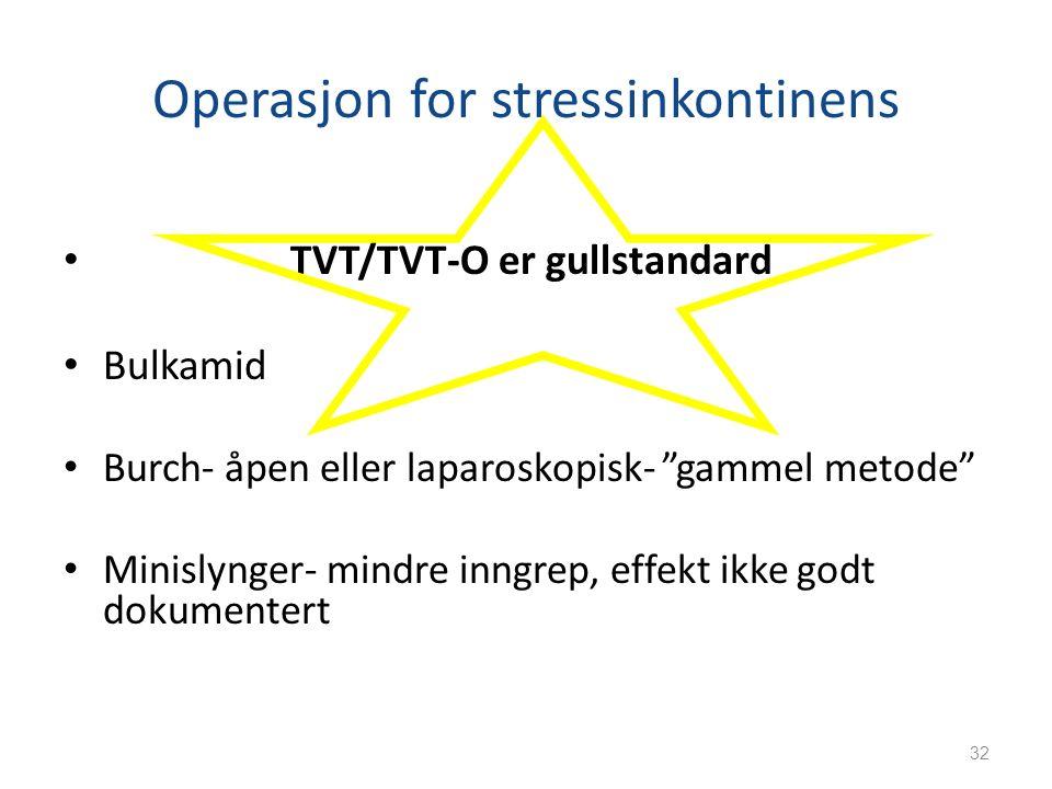 Operasjon for stressinkontinens