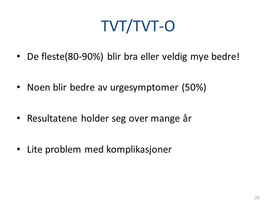 TVT/TVT-O De fleste(80-90%) blir bra eller veldig mye bedre!