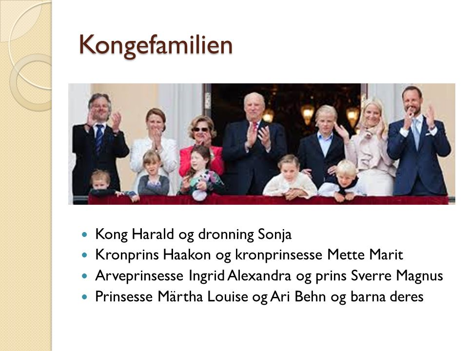 Kongefamilien Kong Harald og dronning Sonja