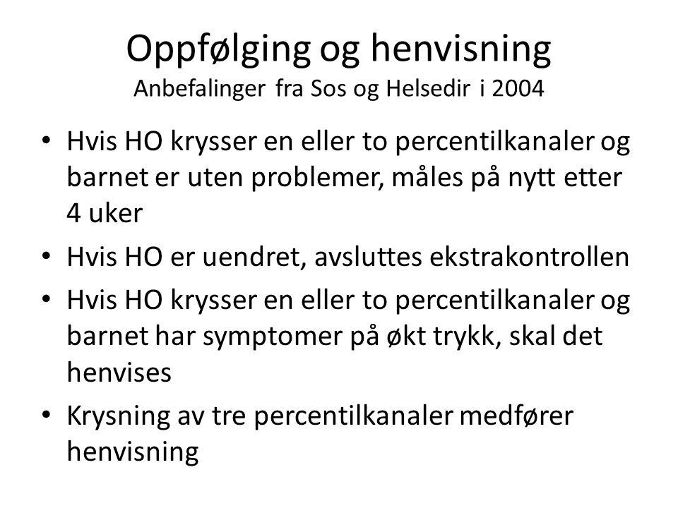 Oppfølging og henvisning Anbefalinger fra Sos og Helsedir i 2004
