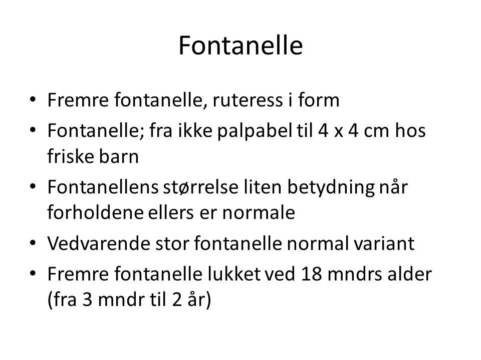 Fontanelle Fremre fontanelle, ruteress i form