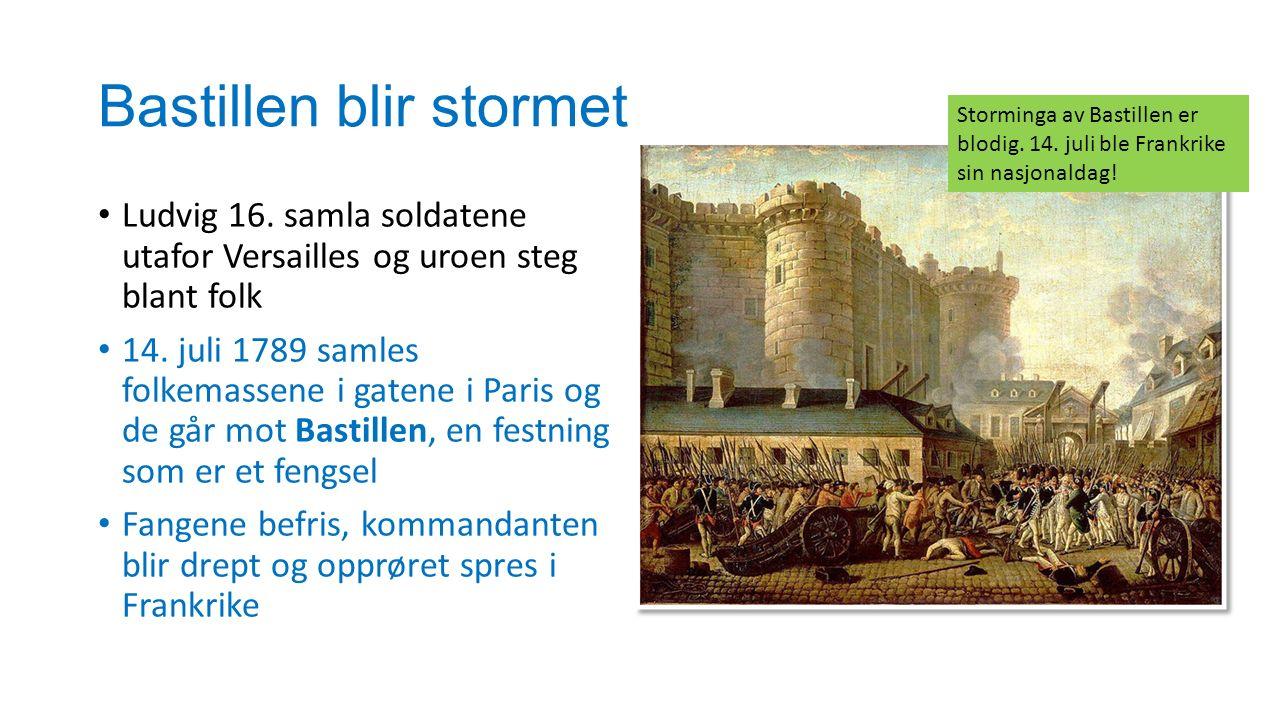 Bastillen blir stormet