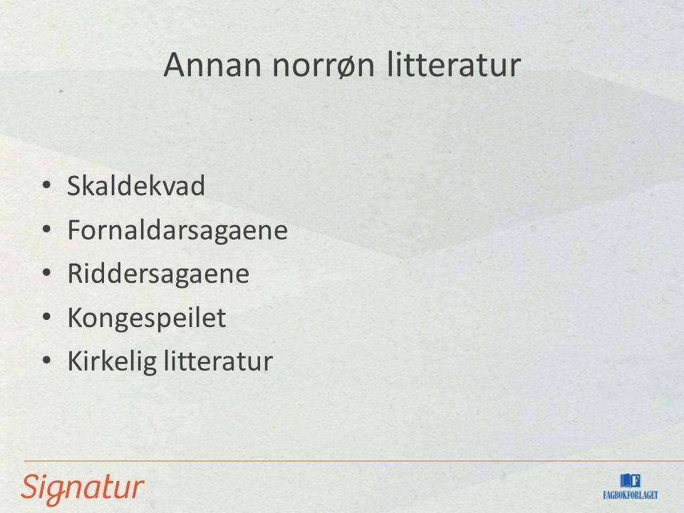 Annan norrøn litteratur