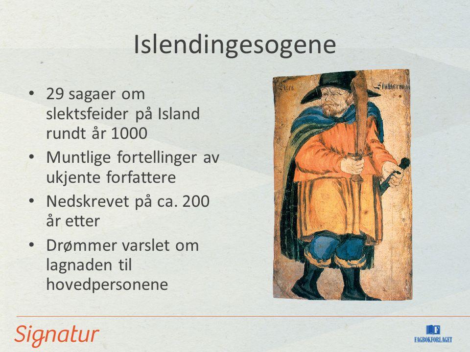 Islendingesogene 29 sagaer om slektsfeider på Island rundt år 1000