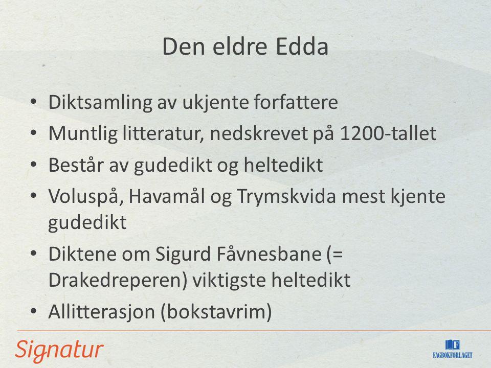 Den eldre Edda Diktsamling av ukjente forfattere