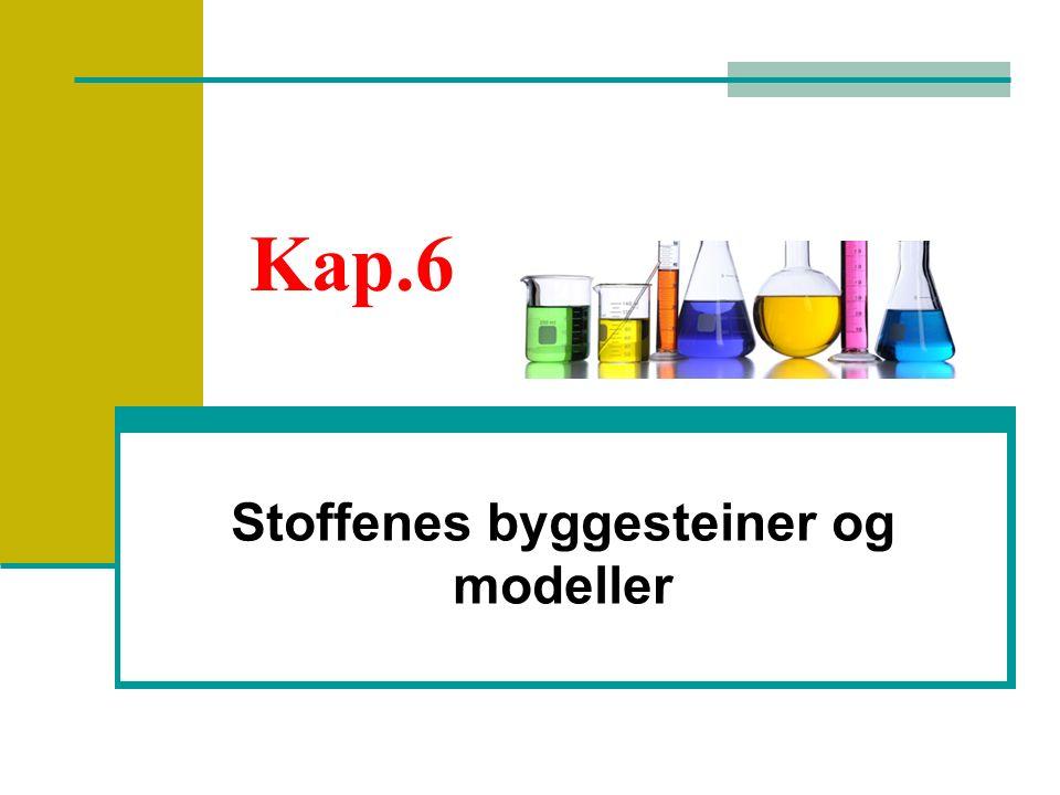 Stoffenes byggesteiner og modeller