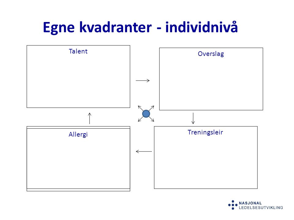 Egne kvadranter - individnivå