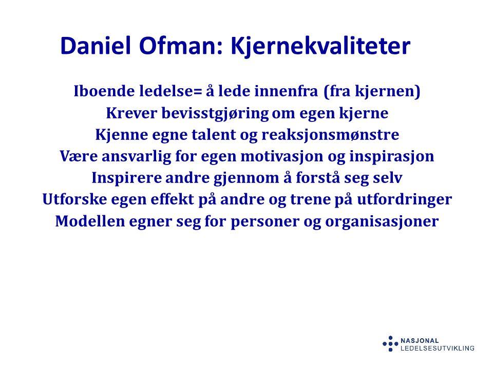Daniel Ofman: Kjernekvaliteter
