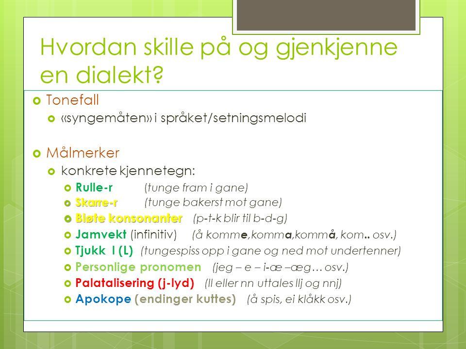 Hvordan skille på og gjenkjenne en dialekt