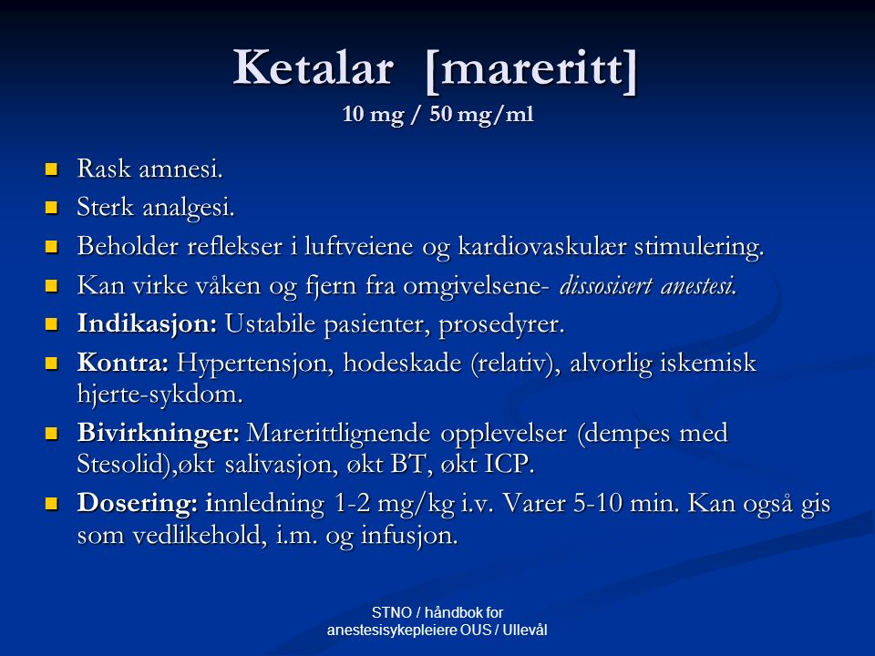 Ketalar [mareritt] 10 mg / 50 mg/ml