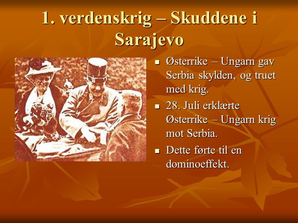 1. verdenskrig – Skuddene i Sarajevo