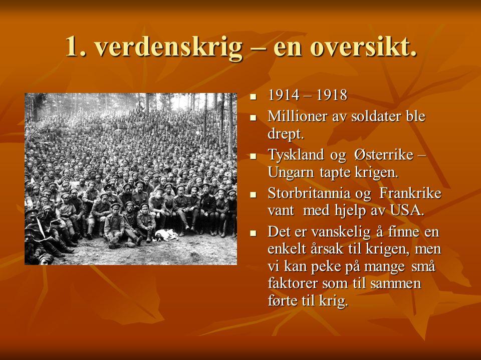1. verdenskrig – en oversikt.
