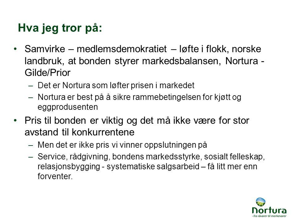 Hva jeg tror på: Samvirke – medlemsdemokratiet – løfte i flokk, norske landbruk, at bonden styrer markedsbalansen, Nortura - Gilde/Prior.
