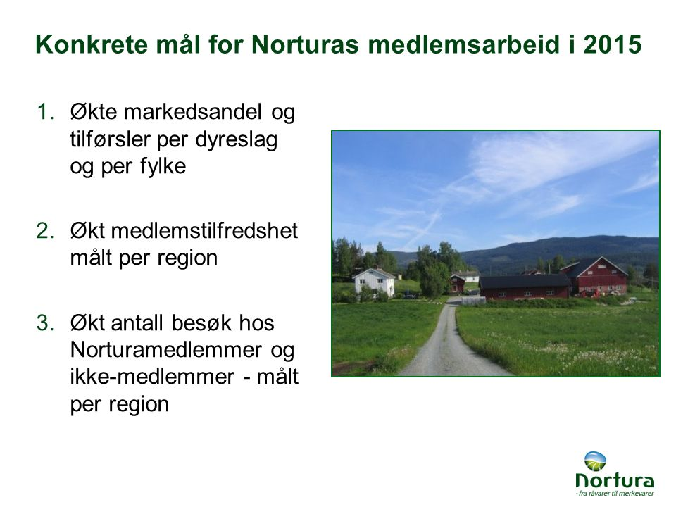 Konkrete mål for Norturas medlemsarbeid i 2015