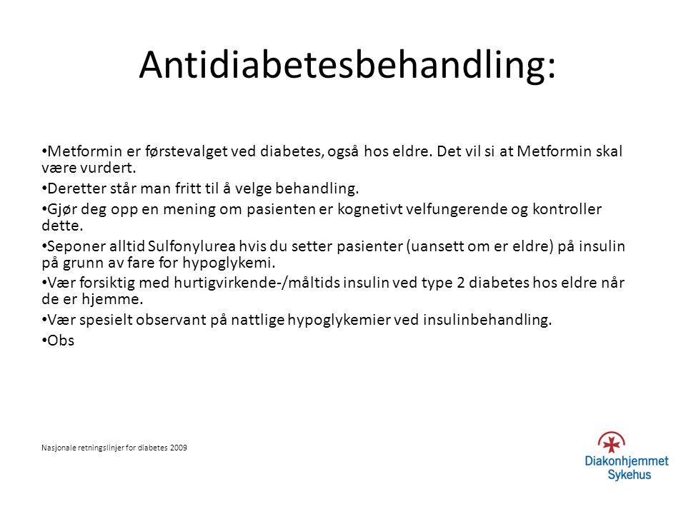 Antidiabetesbehandling: