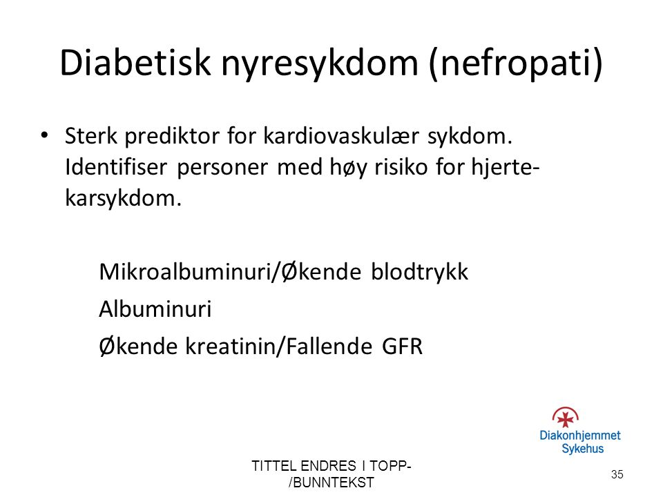Diabetisk nyresykdom (nefropati)
