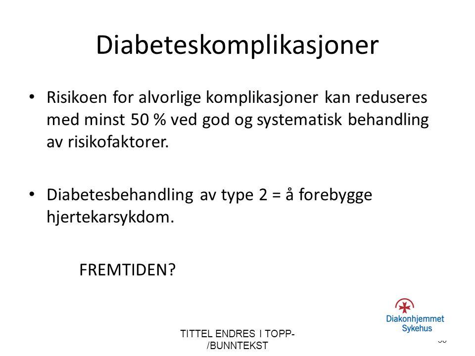 Diabeteskomplikasjoner