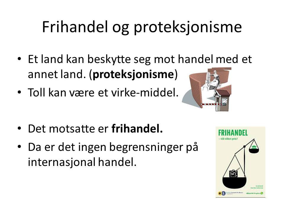 Frihandel og proteksjonisme