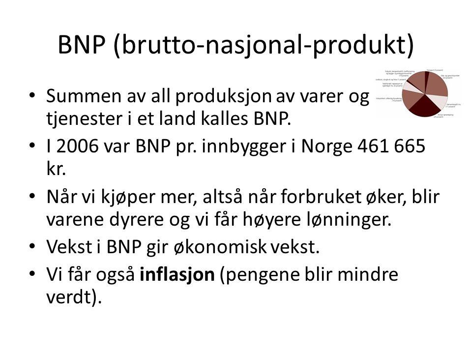 BNP (brutto-nasjonal-produkt)