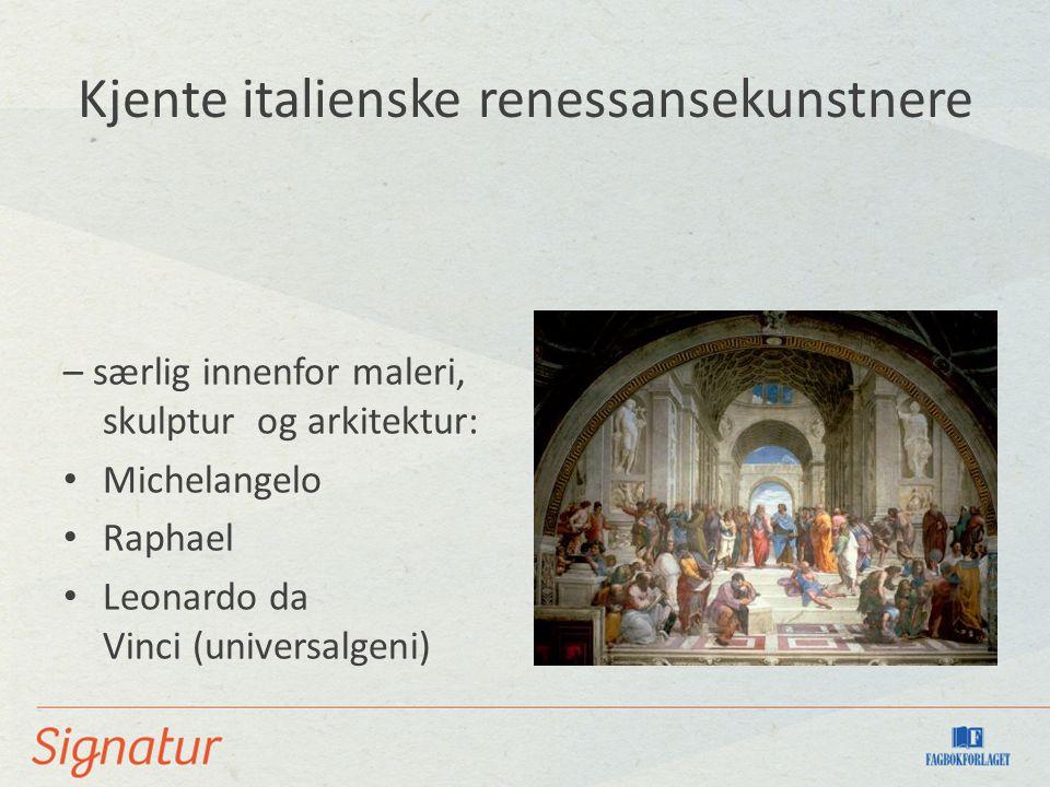 Kjente italienske renessansekunstnere
