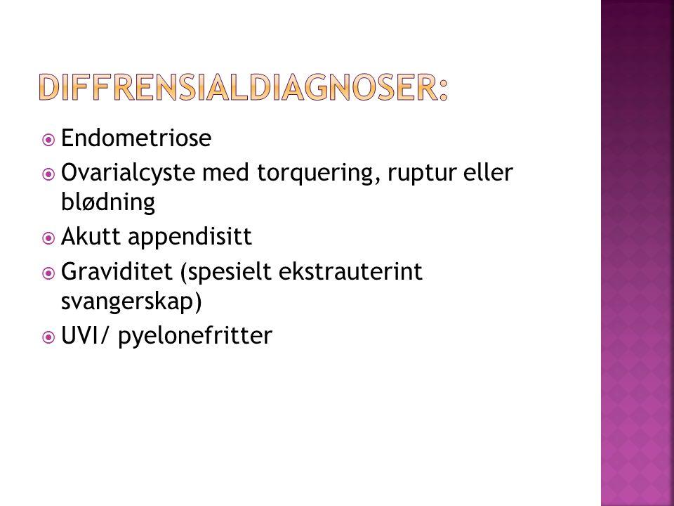 Diffrensialdiagnoser: