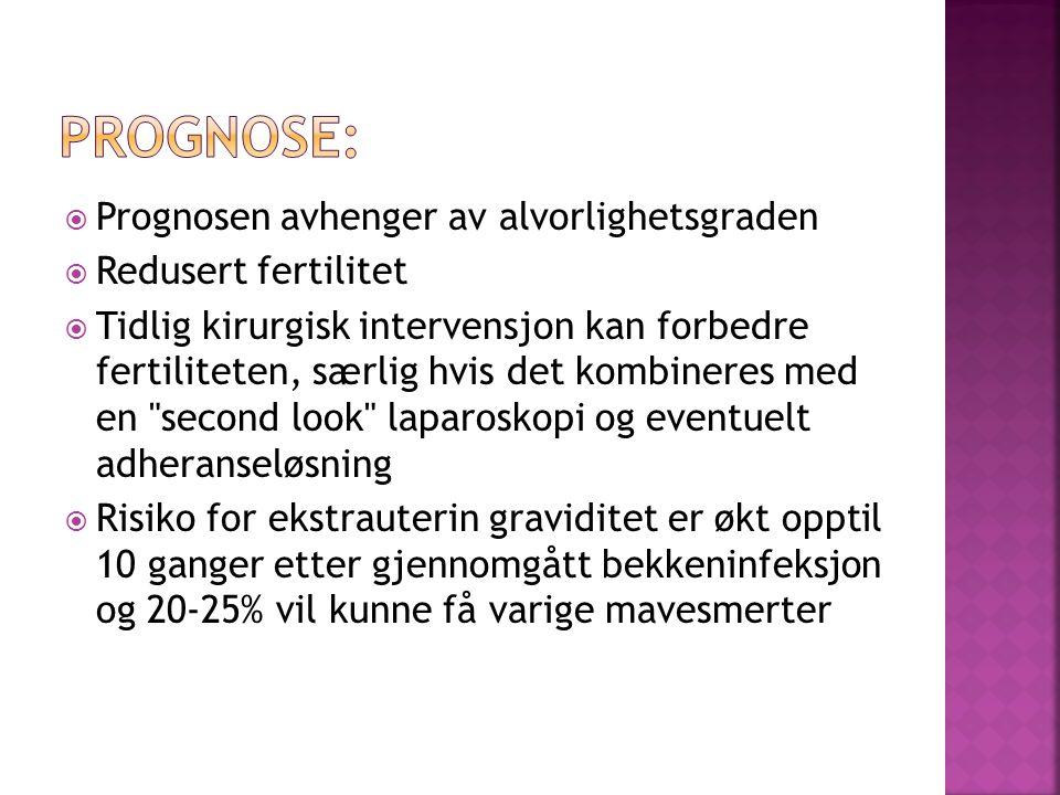 Prognose: Prognosen avhenger av alvorlighetsgraden Redusert fertilitet