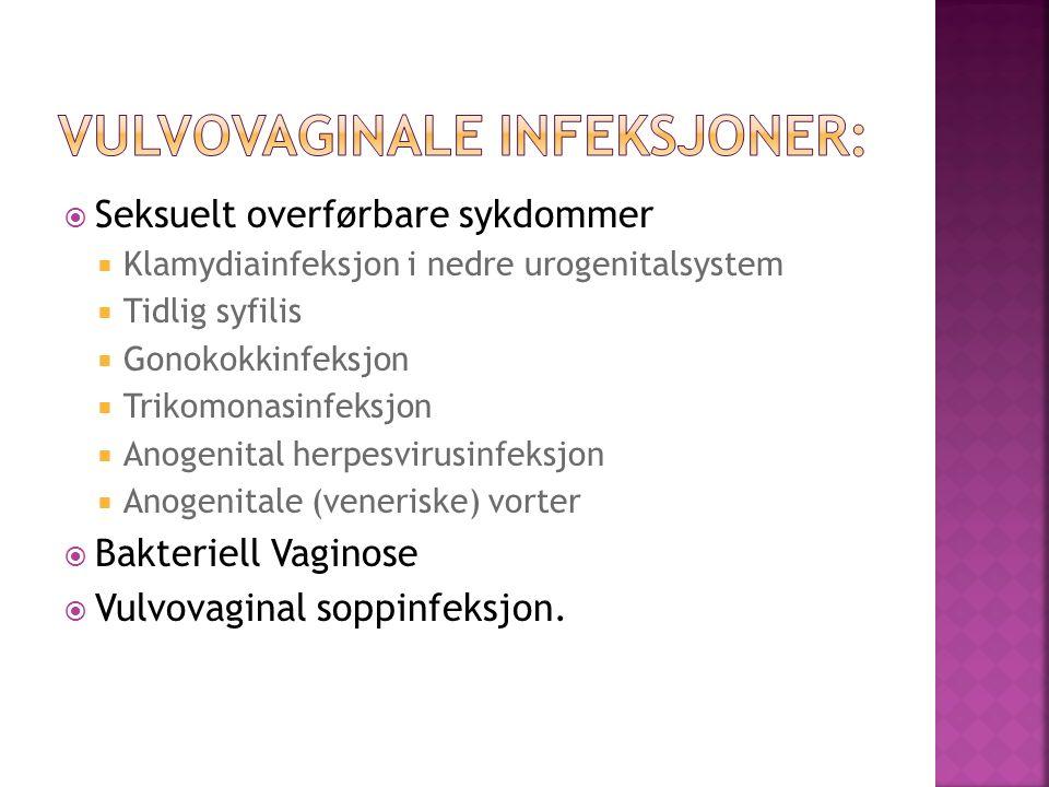 Vulvovaginale infeksjoner: