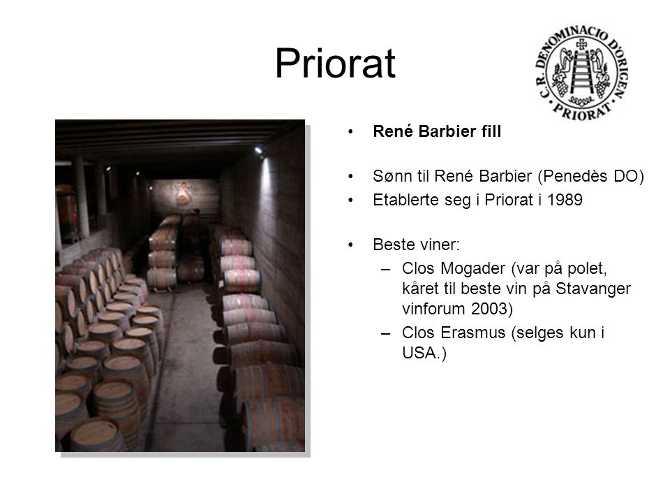 Priorat René Barbier fill Sønn til René Barbier (Penedès DO)