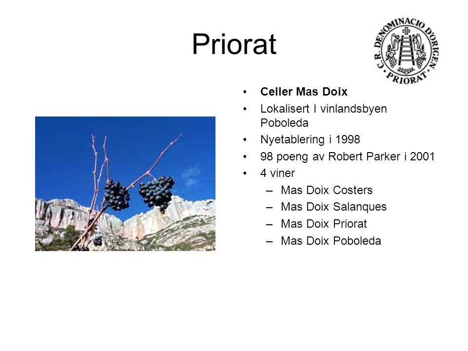 Priorat Celler Mas Doix Lokalisert I vinlandsbyen Poboleda