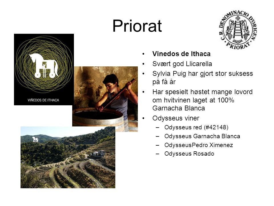 Priorat Vinedos de Ithaca Svært god Llicarella