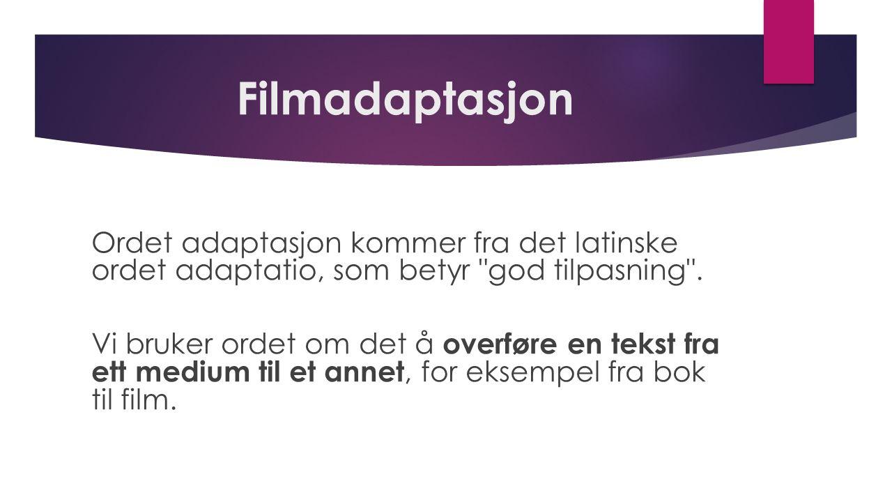 Filmadaptasjon