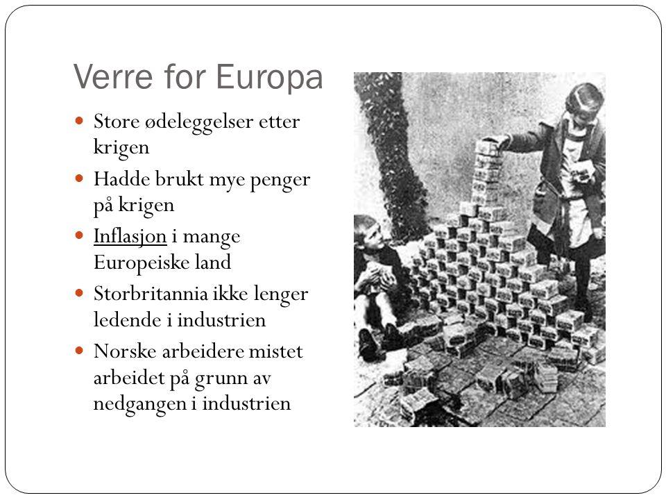 Verre for Europa Store ødeleggelser etter krigen