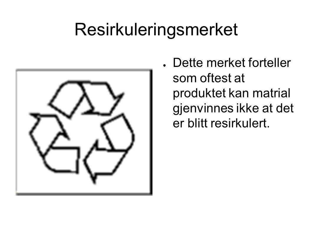 Resirkuleringsmerket