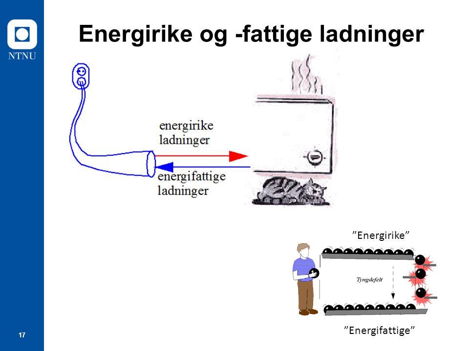 Energirike og -fattige ladninger