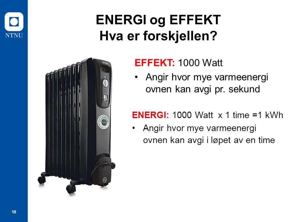 ENERGI og EFFEKT Hva er forskjellen