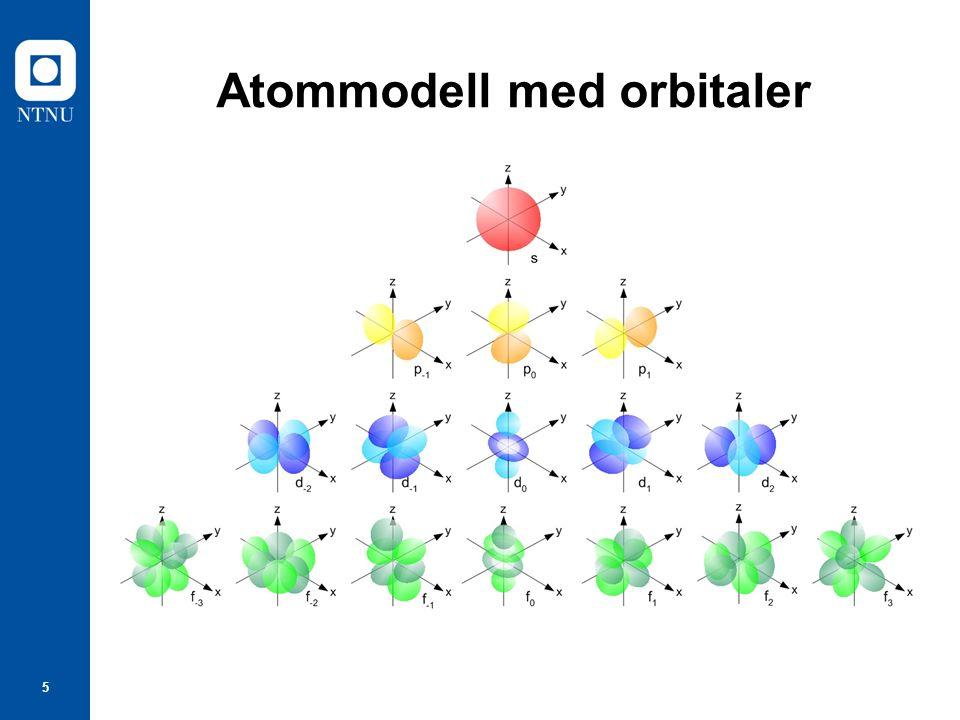 Atommodell med orbitaler