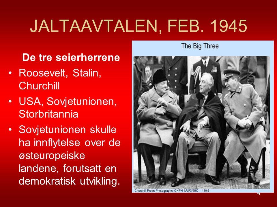 JALTAAVTALEN, FEB. 1945 De tre seierherrene