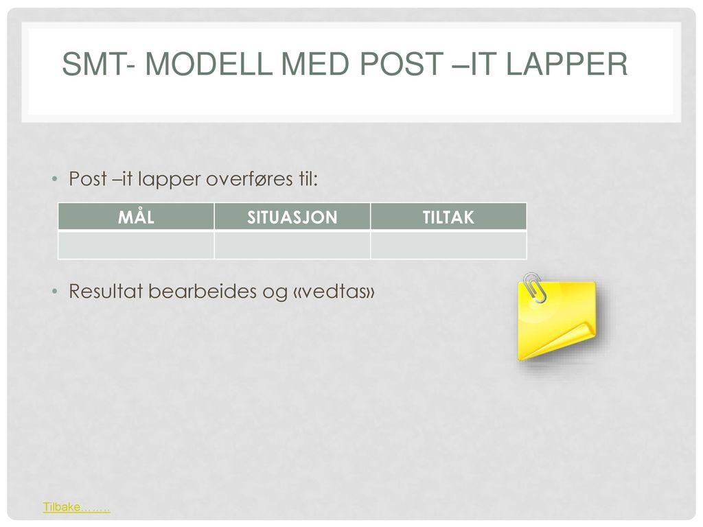 SMT- modell med post –it lapper