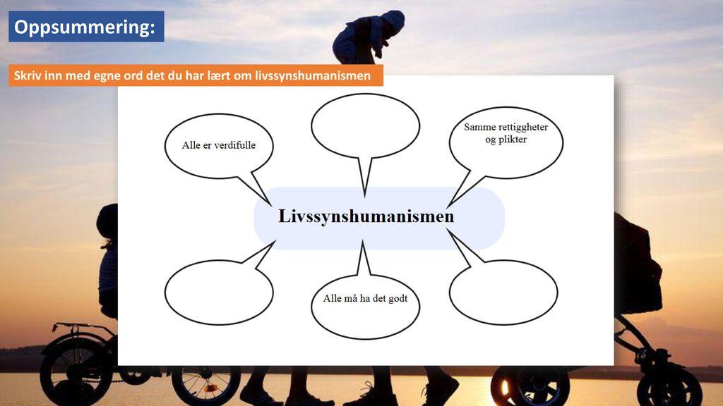 Oppsummering: Skriv inn med egne ord det du har lært om livssynshumanismen