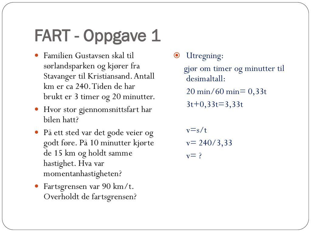 FART - Oppgave 1