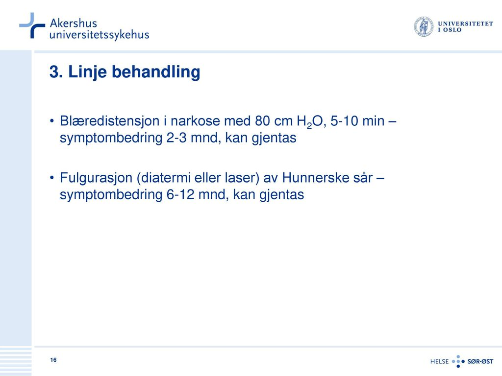 overfylt urinblære symptomer