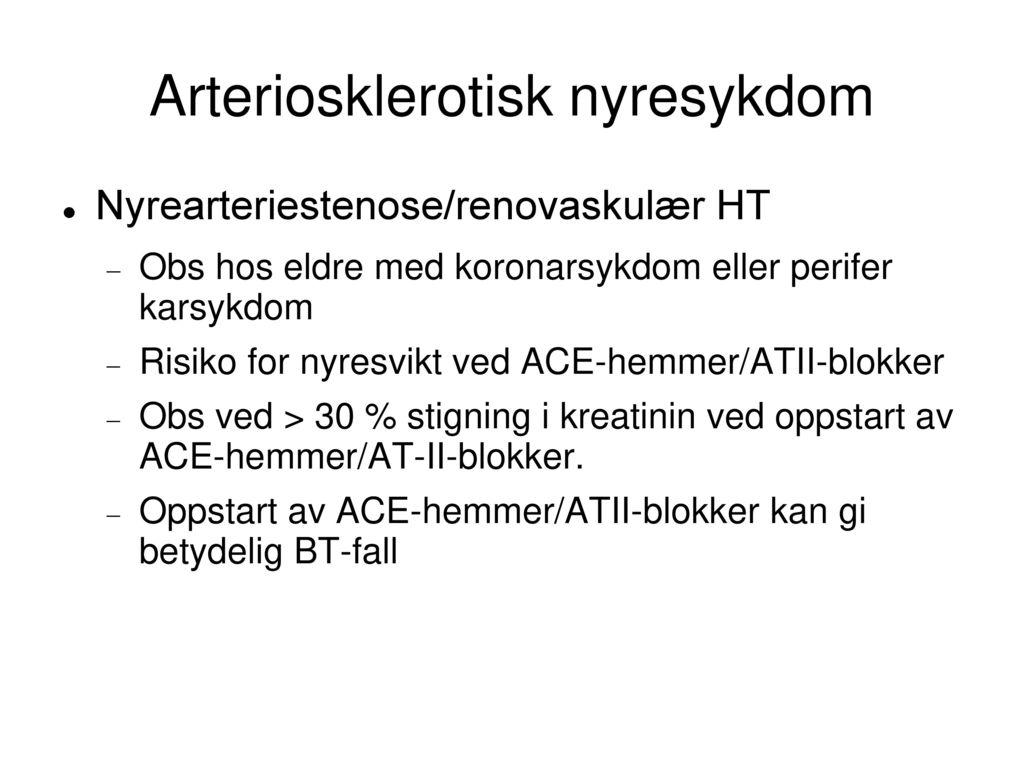 Arteriosklerotisk nyresykdom
