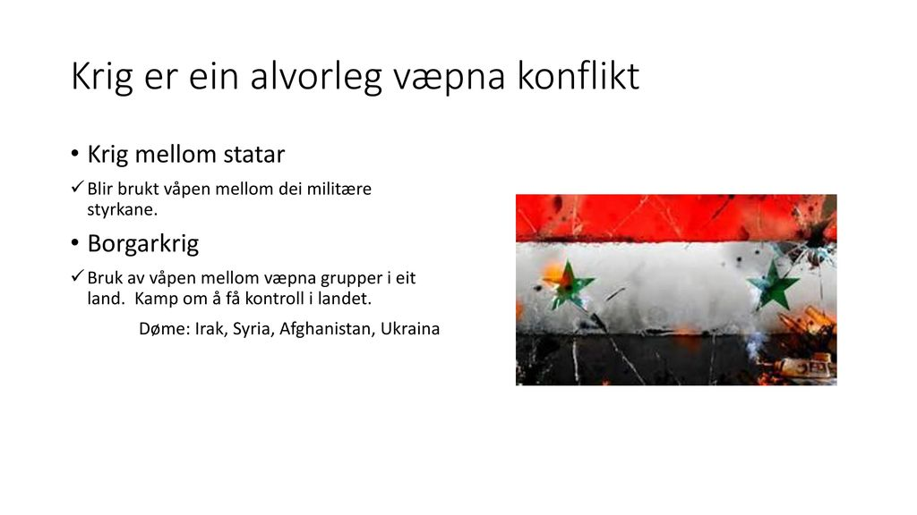 krig i syria
