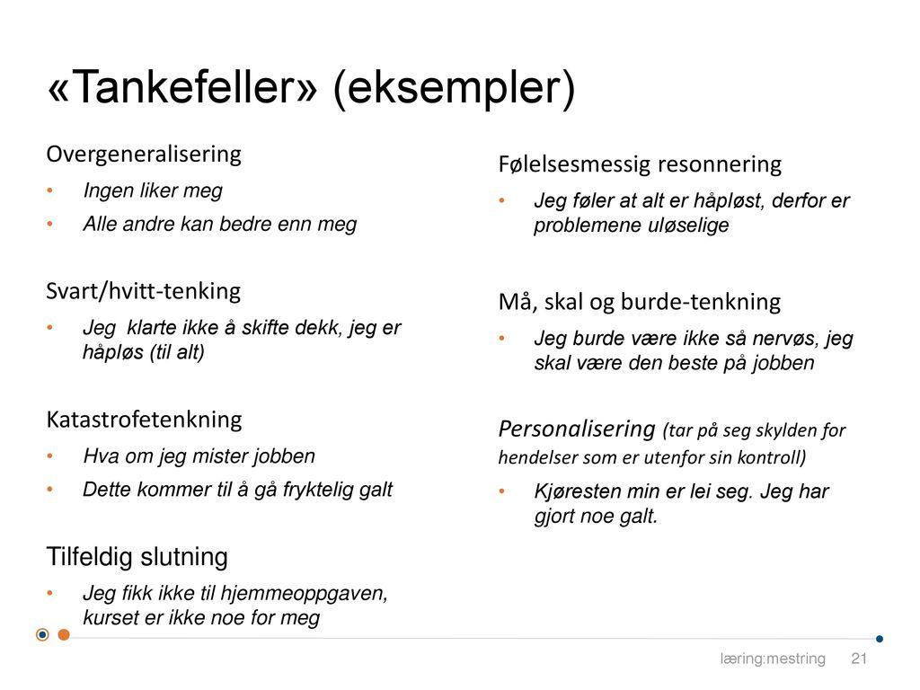 «Tankefeller» (eksempler)