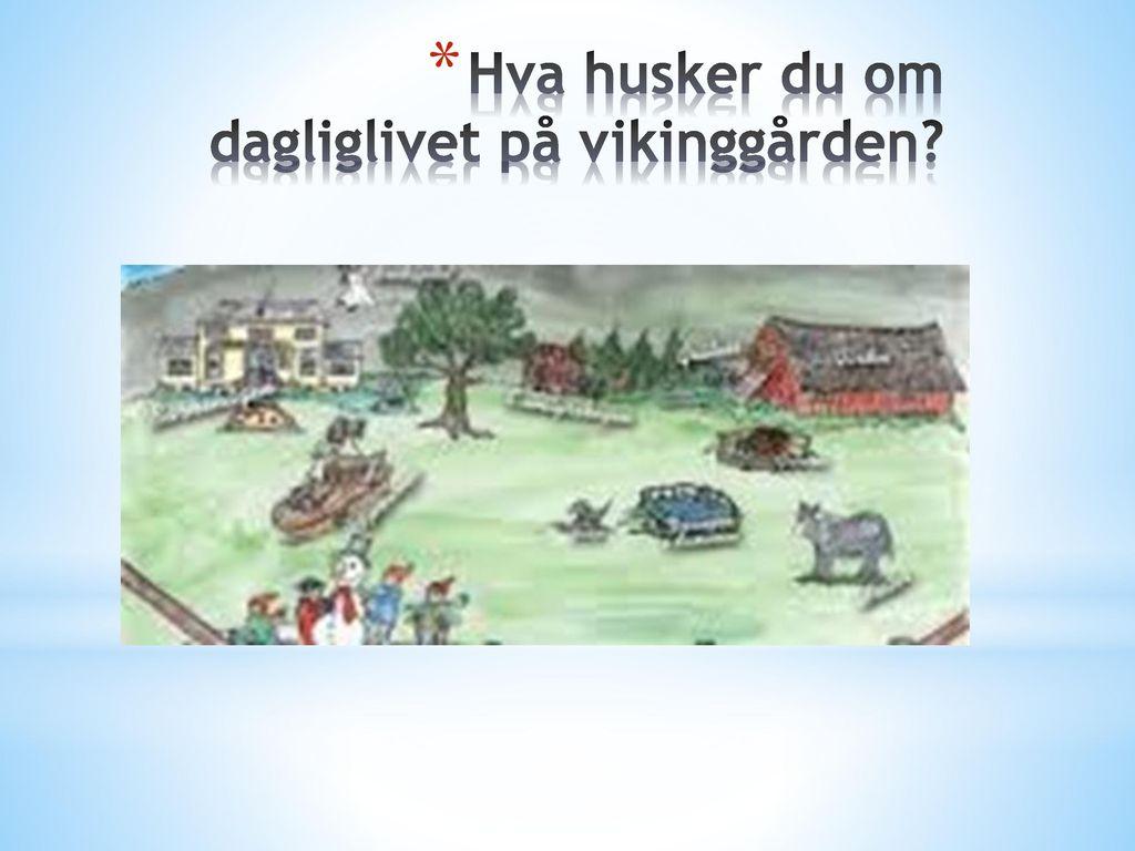 Hva husker du om dagliglivet på vikinggården